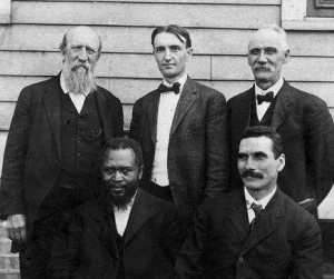 John G. Lake (bottom-right) with William Seymour and other Azusa Street ministers